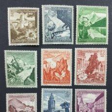 Sellos: SELLOS ALEMANIA 1938 Y&T 616/24** PAISAJES Y FLORA DE AUSTRIA. Lote 204174937