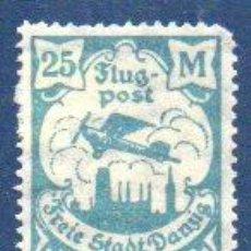 Sellos: ALEMANIA.- AÑO 1923.- DANZIG, EN NUEVO CON SEÑAL DE FIJASELLOS. Lote 204519990