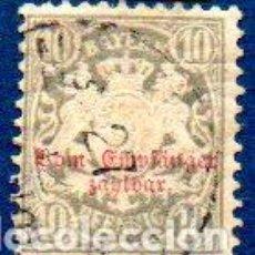 Sellos: ALEMANIA.- AÑO 1876.- BAYERN, SOBRECARGADO, EN USADO. Lote 204520442