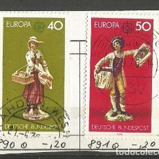 Sellos: ALEMANIA FEDERAL 1976 - PAREJA CEPT - MUY EXCELENTE - MI: 890 + 891. Lote 204820776