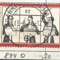 Sellos: ALEMANIA FEDERAL 1976 - CARL MARIA VON WEBER, COMPOSITOR, DIRECT. DE ORC Y PIANISTA ALEMÁN - MI: 894. Lote 204822258