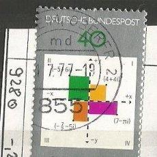 Sellos: ALEMANIA FEDERAL 1977 - CARL F. GAUSS - 1777 - 1855 - MATEMÁTICO Y FÍSICO ALEMÁN - MI: 928. Lote 204823918