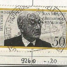Sellos: ALEMANIA FEDERAL 1977 - JEAN MONNET - CIUDADANOS HONORARIOS DE EUROPA - MI: 926. Lote 204824390
