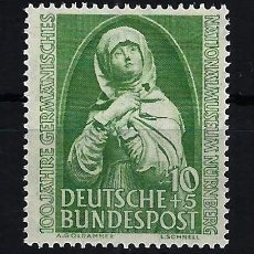 Timbres: 1952 ALEMANIA FEDERAL RFA MICHEL 151 YVERT 38 MUSEO NACIONAL NÜRNBERG MNH** NUEVO SIN FIJASELLOS. Lote 205175267