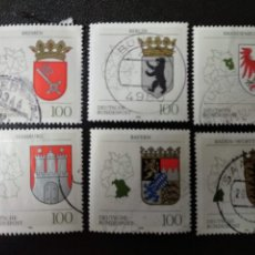 Sellos: ALEMANIA 1992. COAT OF ARMS OF THE FEDERAL STATES OF GERMANY. (2231). Lote 205853487