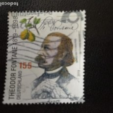 Sellos: ALEMANIA 2019. 200TH ANNIVERSARY OF BIRTH OF THEODOR FONTANE, AUTHOR. MI:DE 3508,(2251). Lote 205868433
