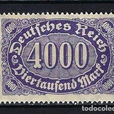 Timbres: 1922-1923 ALEMANIA IMPERIO REICH MICHEL 255 YVERT 190 CIFRAS 4000 MNH** NUEVO SIN FIJASELLOS. Lote 205878712