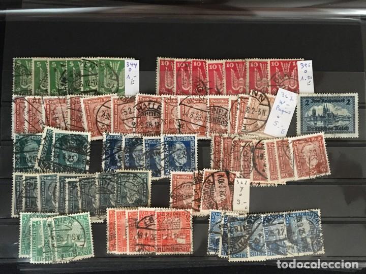 Sellos: ALEMANIA IMPERIO, 85 Fichas con miles de sellos y series en usado, MUY ALTO VALOR DE CATALOGO - Foto 2 - 206162580