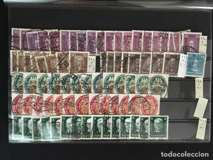 Sellos: ALEMANIA IMPERIO, 85 Fichas con miles de sellos y series en usado, MUY ALTO VALOR DE CATALOGO - Foto 6 - 206162580