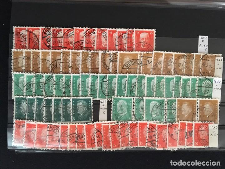 Sellos: ALEMANIA IMPERIO, 85 Fichas con miles de sellos y series en usado, MUY ALTO VALOR DE CATALOGO - Foto 7 - 206162580