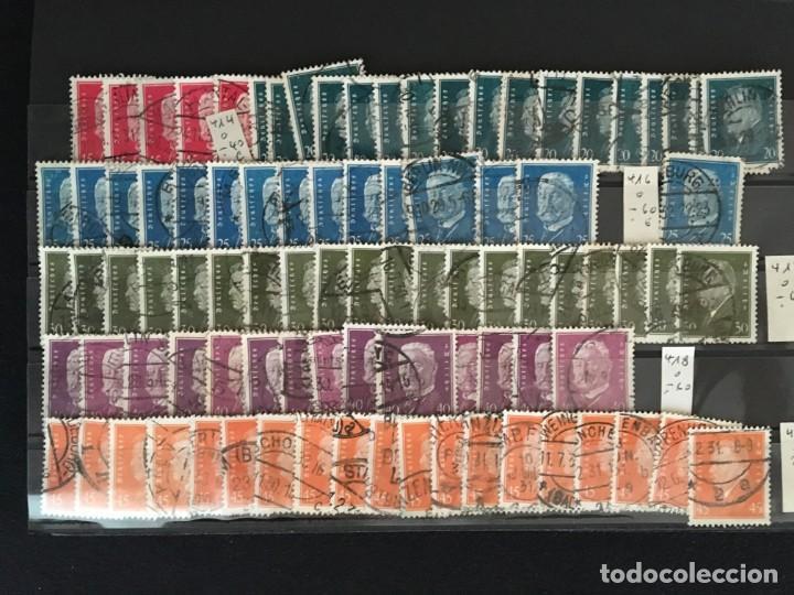 Sellos: ALEMANIA IMPERIO, 85 Fichas con miles de sellos y series en usado, MUY ALTO VALOR DE CATALOGO - Foto 8 - 206162580