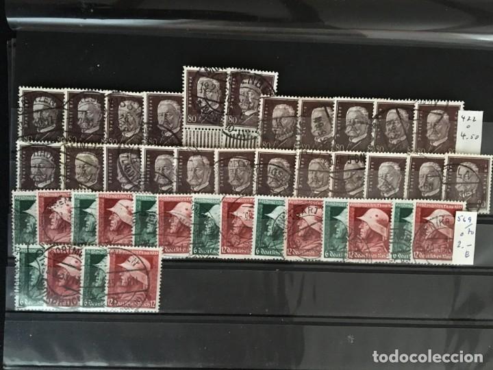 Sellos: ALEMANIA IMPERIO, 85 Fichas con miles de sellos y series en usado, MUY ALTO VALOR DE CATALOGO - Foto 11 - 206162580