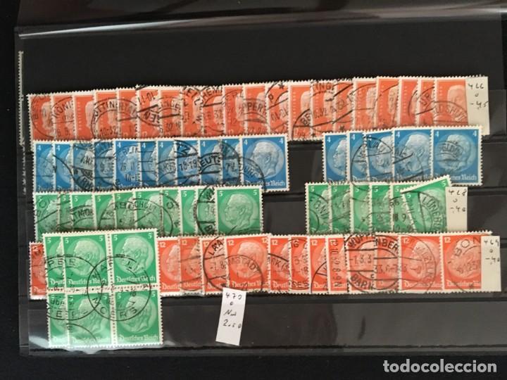 Sellos: ALEMANIA IMPERIO, 85 Fichas con miles de sellos y series en usado, MUY ALTO VALOR DE CATALOGO - Foto 19 - 206162580