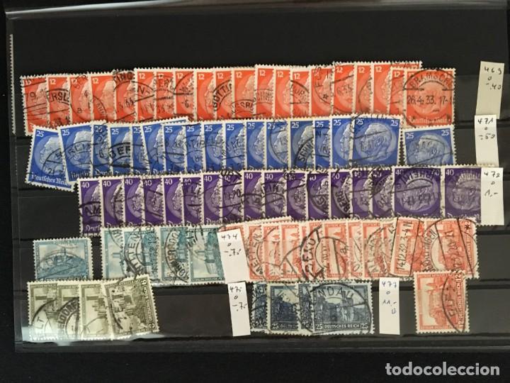 Sellos: ALEMANIA IMPERIO, 85 Fichas con miles de sellos y series en usado, MUY ALTO VALOR DE CATALOGO - Foto 20 - 206162580