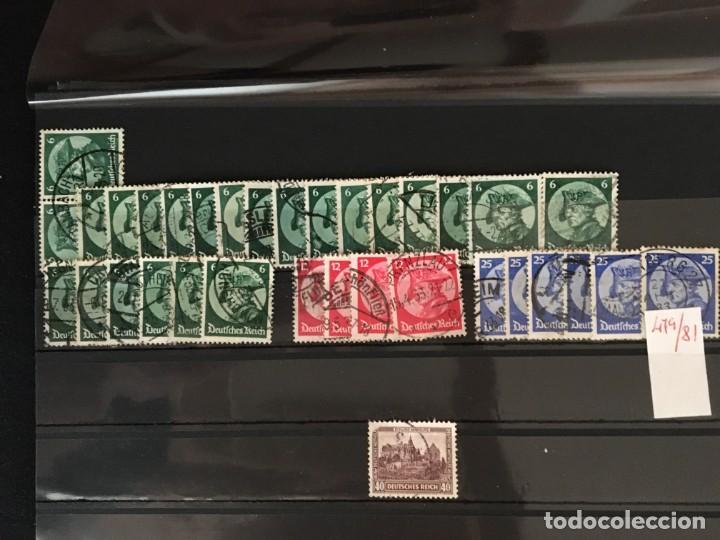 Sellos: ALEMANIA IMPERIO, 85 Fichas con miles de sellos y series en usado, MUY ALTO VALOR DE CATALOGO - Foto 21 - 206162580