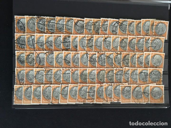 Sellos: ALEMANIA IMPERIO, 85 Fichas con miles de sellos y series en usado, MUY ALTO VALOR DE CATALOGO - Foto 30 - 206162580