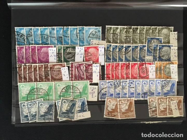Sellos: ALEMANIA IMPERIO, 85 Fichas con miles de sellos y series en usado, MUY ALTO VALOR DE CATALOGO - Foto 33 - 206162580