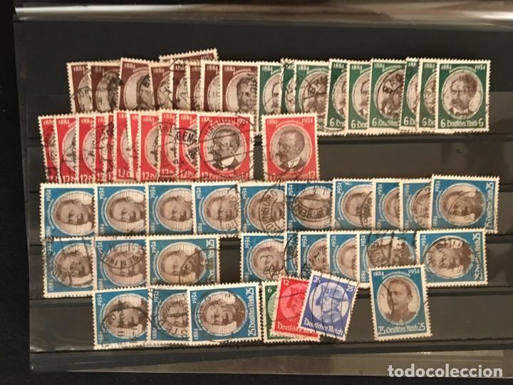 Sellos: ALEMANIA IMPERIO, 85 Fichas con miles de sellos y series en usado, MUY ALTO VALOR DE CATALOGO - Foto 35 - 206162580