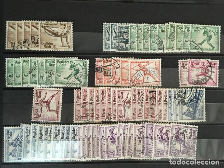 Sellos: ALEMANIA IMPERIO, 85 Fichas con miles de sellos y series en usado, MUY ALTO VALOR DE CATALOGO - Foto 38 - 206162580