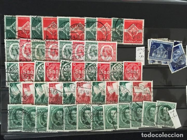 Sellos: ALEMANIA IMPERIO, 85 Fichas con miles de sellos y series en usado, MUY ALTO VALOR DE CATALOGO - Foto 40 - 206162580