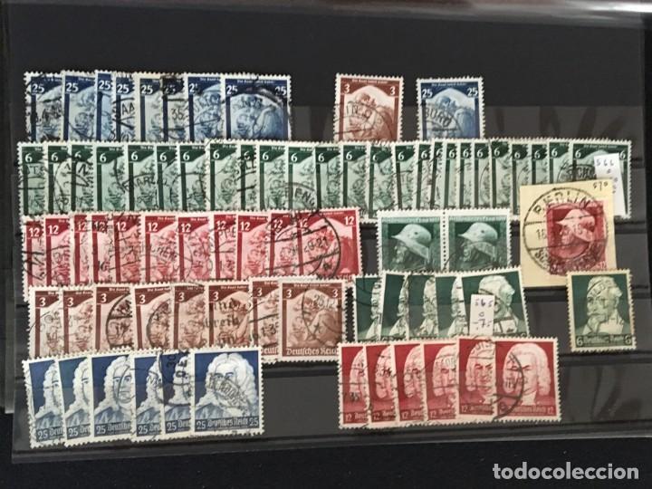 Sellos: ALEMANIA IMPERIO, 85 Fichas con miles de sellos y series en usado, MUY ALTO VALOR DE CATALOGO - Foto 42 - 206162580