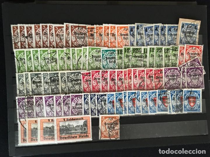 Sellos: ALEMANIA IMPERIO, 85 Fichas con miles de sellos y series en usado, MUY ALTO VALOR DE CATALOGO - Foto 43 - 206162580