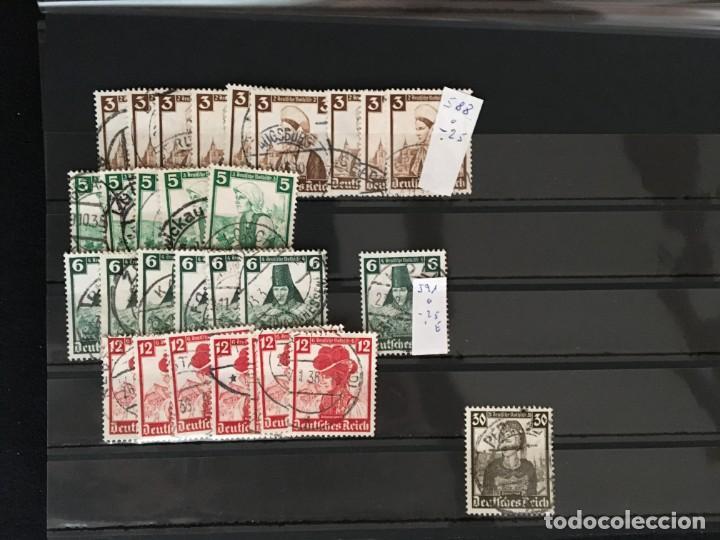 Sellos: ALEMANIA IMPERIO, 85 Fichas con miles de sellos y series en usado, MUY ALTO VALOR DE CATALOGO - Foto 44 - 206162580