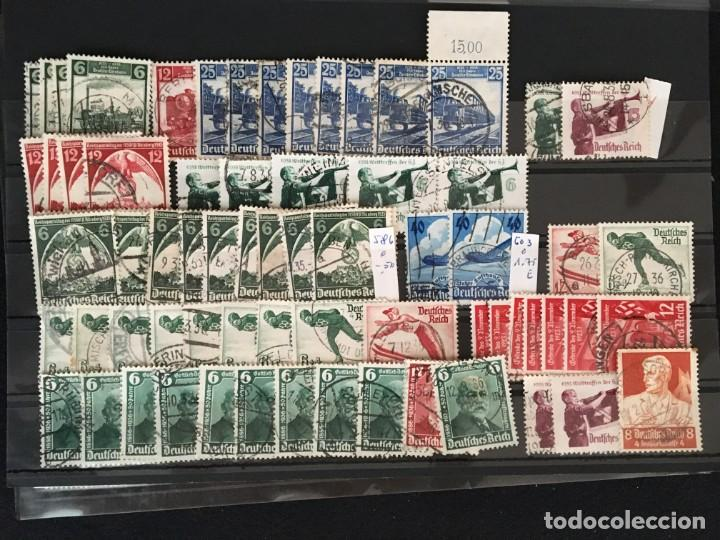 Sellos: ALEMANIA IMPERIO, 85 Fichas con miles de sellos y series en usado, MUY ALTO VALOR DE CATALOGO - Foto 45 - 206162580