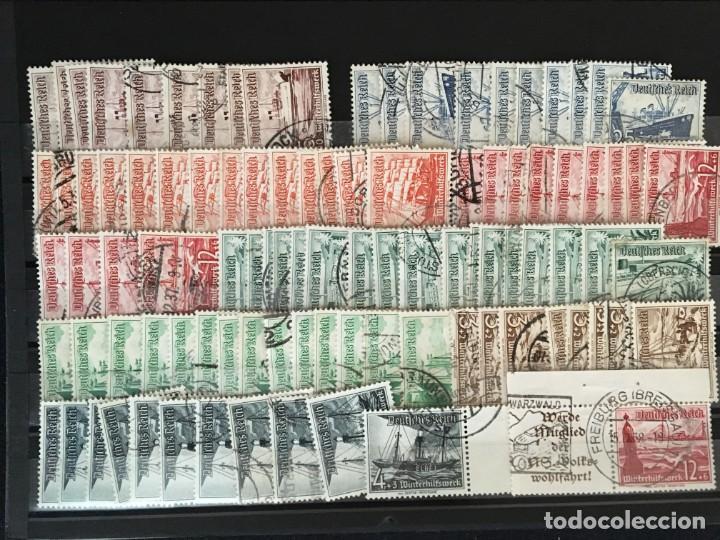 Sellos: ALEMANIA IMPERIO, 85 Fichas con miles de sellos y series en usado, MUY ALTO VALOR DE CATALOGO - Foto 47 - 206162580