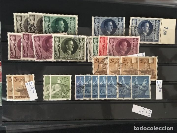 Sellos: ALEMANIA IMPERIO, 85 Fichas con miles de sellos y series en usado, MUY ALTO VALOR DE CATALOGO - Foto 48 - 206162580