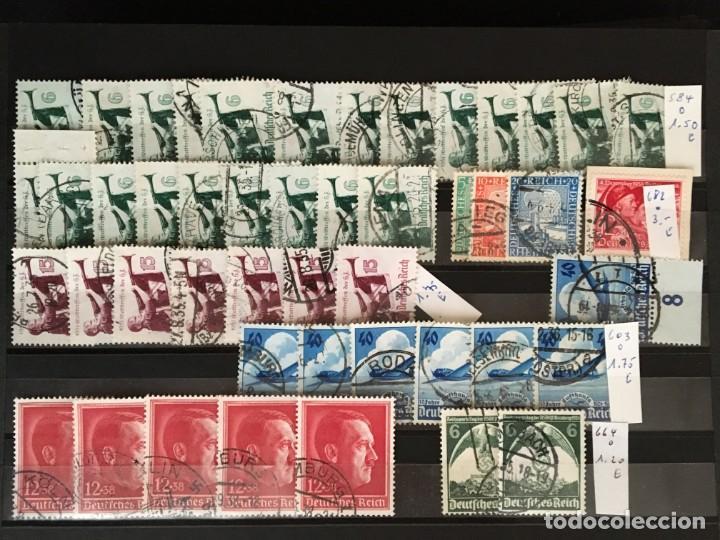 Sellos: ALEMANIA IMPERIO, 85 Fichas con miles de sellos y series en usado, MUY ALTO VALOR DE CATALOGO - Foto 54 - 206162580
