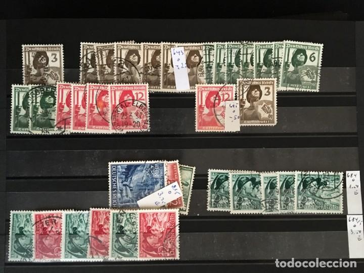 Sellos: ALEMANIA IMPERIO, 85 Fichas con miles de sellos y series en usado, MUY ALTO VALOR DE CATALOGO - Foto 55 - 206162580