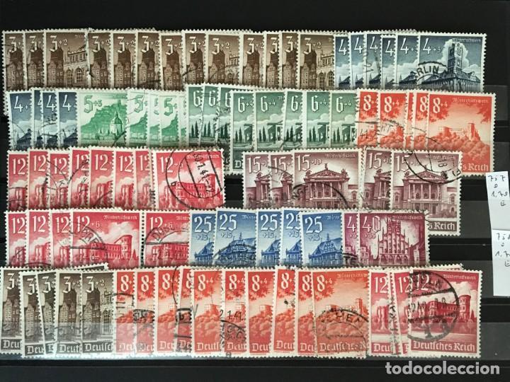 Sellos: ALEMANIA IMPERIO, 85 Fichas con miles de sellos y series en usado, MUY ALTO VALOR DE CATALOGO - Foto 56 - 206162580
