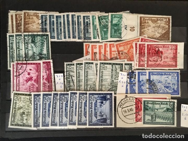 Sellos: ALEMANIA IMPERIO, 85 Fichas con miles de sellos y series en usado, MUY ALTO VALOR DE CATALOGO - Foto 57 - 206162580