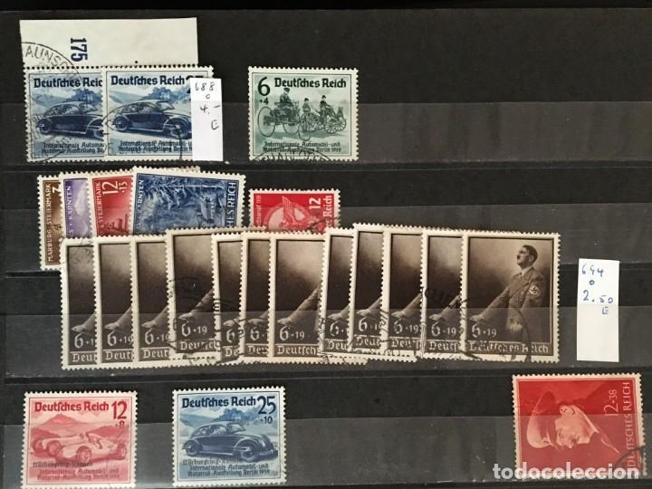 Sellos: ALEMANIA IMPERIO, 85 Fichas con miles de sellos y series en usado, MUY ALTO VALOR DE CATALOGO - Foto 58 - 206162580