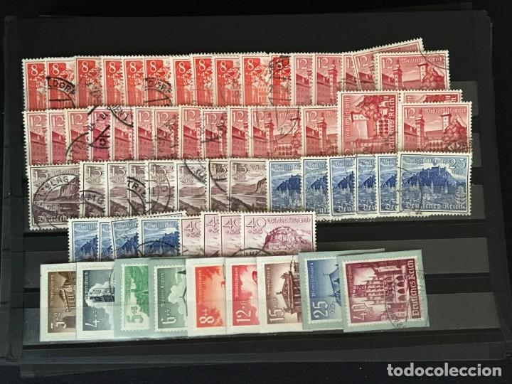 Sellos: ALEMANIA IMPERIO, 85 Fichas con miles de sellos y series en usado, MUY ALTO VALOR DE CATALOGO - Foto 60 - 206162580