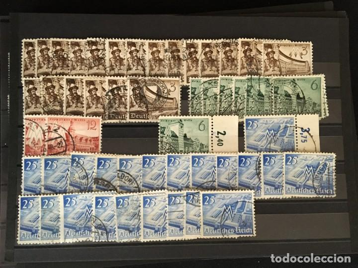 Sellos: ALEMANIA IMPERIO, 85 Fichas con miles de sellos y series en usado, MUY ALTO VALOR DE CATALOGO - Foto 61 - 206162580