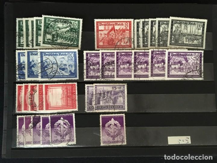 Sellos: ALEMANIA IMPERIO, 85 Fichas con miles de sellos y series en usado, MUY ALTO VALOR DE CATALOGO - Foto 62 - 206162580