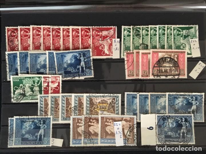 Sellos: ALEMANIA IMPERIO, 85 Fichas con miles de sellos y series en usado, MUY ALTO VALOR DE CATALOGO - Foto 63 - 206162580