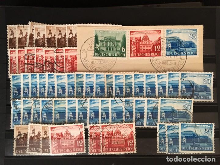 Sellos: ALEMANIA IMPERIO, 85 Fichas con miles de sellos y series en usado, MUY ALTO VALOR DE CATALOGO - Foto 64 - 206162580