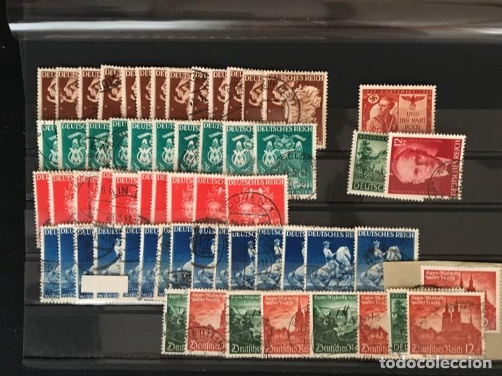 Sellos: ALEMANIA IMPERIO, 85 Fichas con miles de sellos y series en usado, MUY ALTO VALOR DE CATALOGO - Foto 65 - 206162580