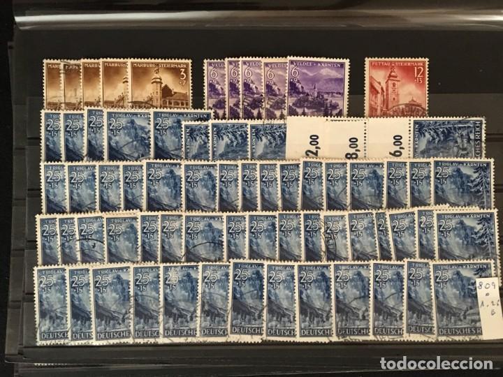 Sellos: ALEMANIA IMPERIO, 85 Fichas con miles de sellos y series en usado, MUY ALTO VALOR DE CATALOGO - Foto 66 - 206162580