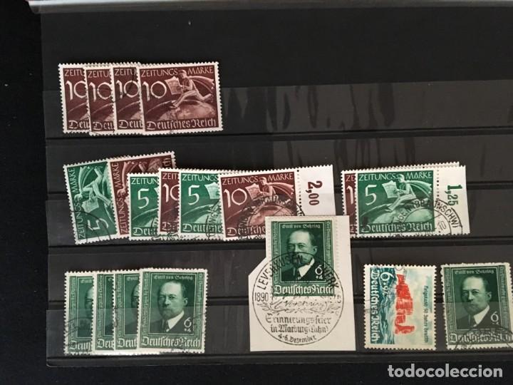 Sellos: ALEMANIA IMPERIO, 85 Fichas con miles de sellos y series en usado, MUY ALTO VALOR DE CATALOGO - Foto 68 - 206162580
