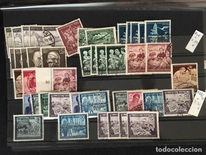 Sellos: ALEMANIA IMPERIO, 85 Fichas con miles de sellos y series en usado, MUY ALTO VALOR DE CATALOGO - Foto 69 - 206162580
