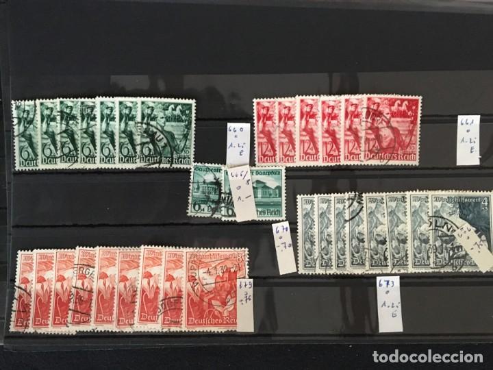 Sellos: ALEMANIA IMPERIO, 85 Fichas con miles de sellos y series en usado, MUY ALTO VALOR DE CATALOGO - Foto 73 - 206162580
