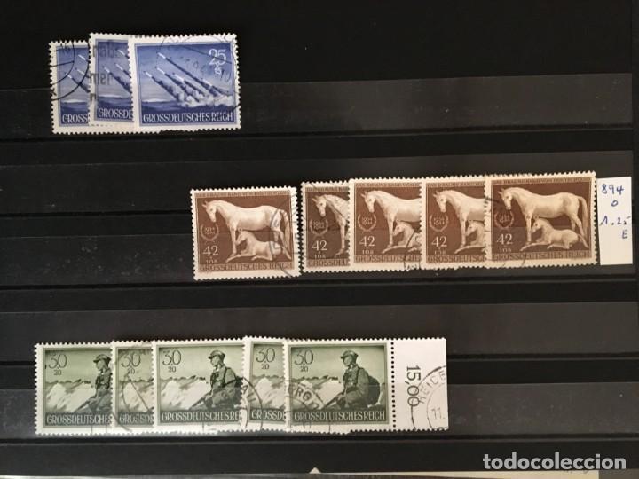 Sellos: ALEMANIA IMPERIO, 85 Fichas con miles de sellos y series en usado, MUY ALTO VALOR DE CATALOGO - Foto 78 - 206162580