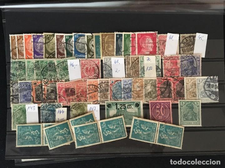 Sellos: ALEMANIA IMPERIO, 85 Fichas con miles de sellos y series en usado, MUY ALTO VALOR DE CATALOGO - Foto 81 - 206162580
