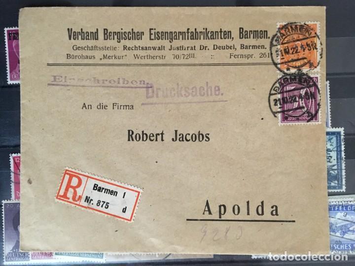 Sellos: ALEMANIA IMPERIO, 85 Fichas con miles de sellos y series en usado, MUY ALTO VALOR DE CATALOGO - Foto 82 - 206162580