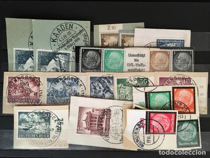 Sellos: ALEMANIA IMPERIO, 85 Fichas con miles de sellos y series en usado, MUY ALTO VALOR DE CATALOGO - Foto 84 - 206162580