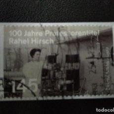 Sellos: ALEMANIA 2013.100 YEAR PROFESSORSHIP RAHEL HIRSCH. MI:DE 3038,(2333). Lote 206189887